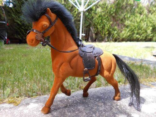 Pferd aus Fliska ca 17 cm Spielzeug schwarz braun oder weiß