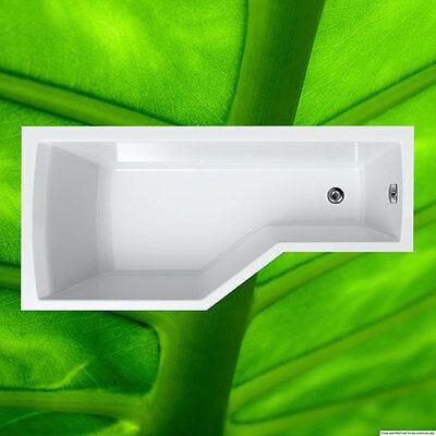 Badewanne 170x80 cm inkl. Füße + Ablauf + Befestigung 80x170 Komplett Links