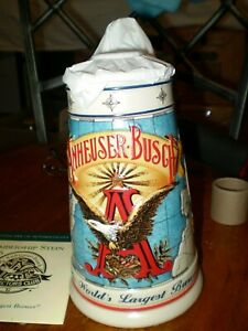 1996-ANHEUSER-BUSCH-MEMBERS-ONLY-STEIN-034-THE-WORLD-LARGEST-BREWERY-034-COA