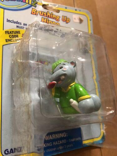 "Webkinz 3"" Figurine Brushing Up Hippo With Secret Online Code By Ganz"