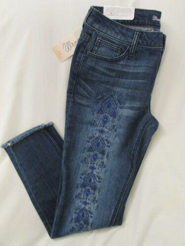Femme Jean wrangler brodé haute en taille taille vieilli mi 191056451424 jean 7x28 bleue OEnOrvq7