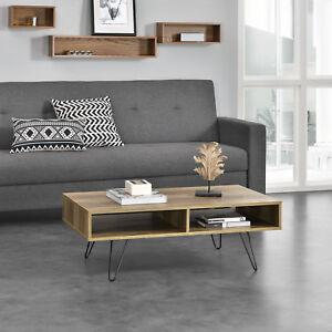 Détails Mdf casa ® Pieds Bois Suren Table Basse Épingle À Cheveux Plateau 100cmx65cmx35cm b6gyf7Yv