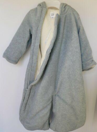 NWT Gap Baby Boy Girl 1pc Fleece Bear Bundler Outerwear Size 3-6M New MSRP$35