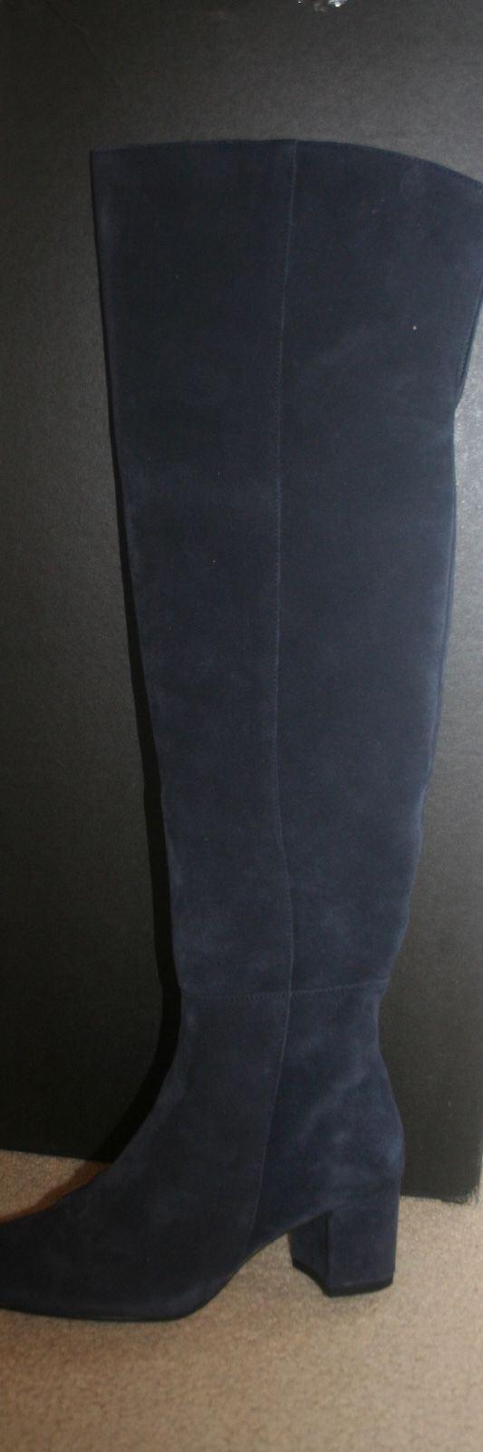 J.CREW 6M SUEDE OVER-THE-KNEE Stiefel SIZE 6M J.CREW DARK PACIFIC F8009 e20716