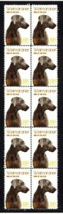 WEIMARANER-YEAR-OF-THE-DOG-STRIP-OF-10-MINT-VIGNETTE-STAMPS-1