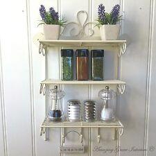 Item 1 Shabby Chic Metal Wall Shelf Unit Hooks Storage Kitchen E Rack Display