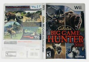 Cabelas-Big-Game-Hunter-Nintendo-Wii-2010-Complete-Manual-Tested