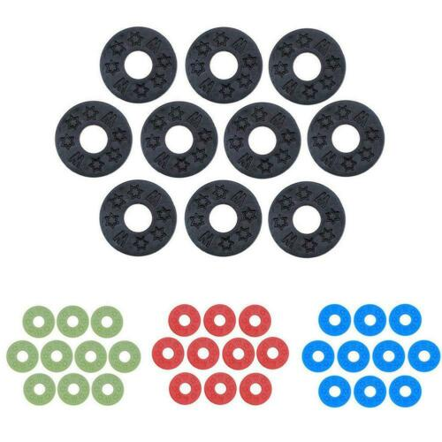 10 Pcs Guitar Strap Buckle Lock Locking Washer Gasket Bass For Guitar Parts X1E7