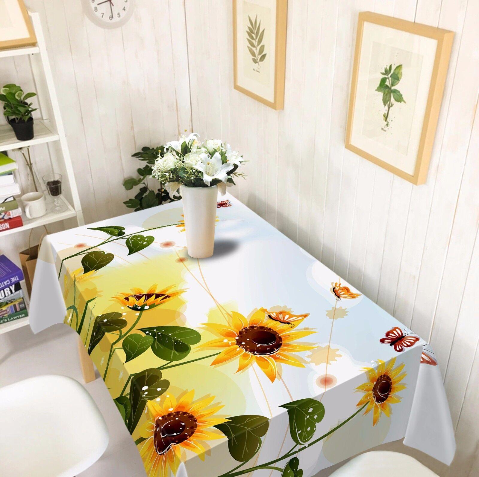 3D Flores 857 Mantel Mantel Paño Fiesta de Cumpleaños Evento AJ Wallpaper