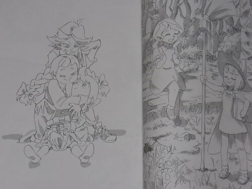 TRIGGER Little Witch Academia Animation Staff Illustration Book C92 RARE