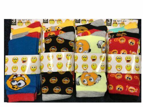 Kids socks Emoji design Boys Socks Girls Socks 6 Pairs Everyday Ladies Socks