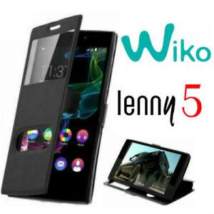 Custodia-per-WIKO-LENNY-5-Flip-Cover-Libro-Finestra-Chiusura-Magnetica
