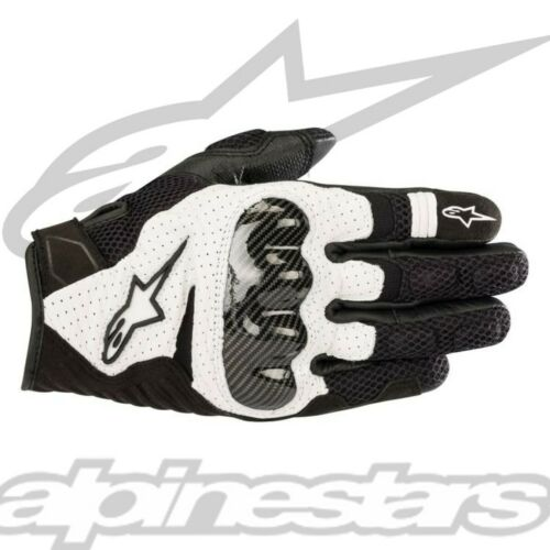 New OEM Alpinestars SMX-1 Air V2 Road Sport Riding Gloves White//Black