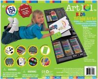 Kids Gifts 154 Piece Art Set Supplies Drawing Painting Coloring Trifold Kit