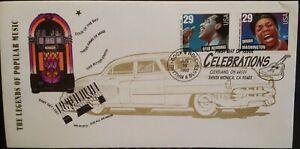 1993 Legend Of American Music FDC USA Otis Redding Dinah Washington Celebrations
