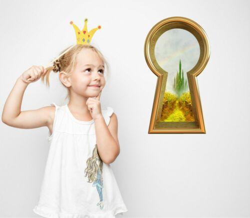 3D trou de serrure applique murale Emerald City Castle Wizard of Oz Fantasy Wall Art Autocollant