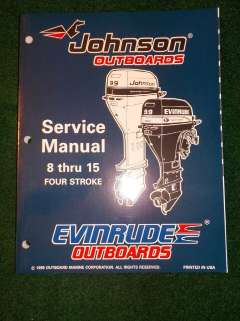 1996 Johnson Evinrude Outboard Service Repair Shop Manual