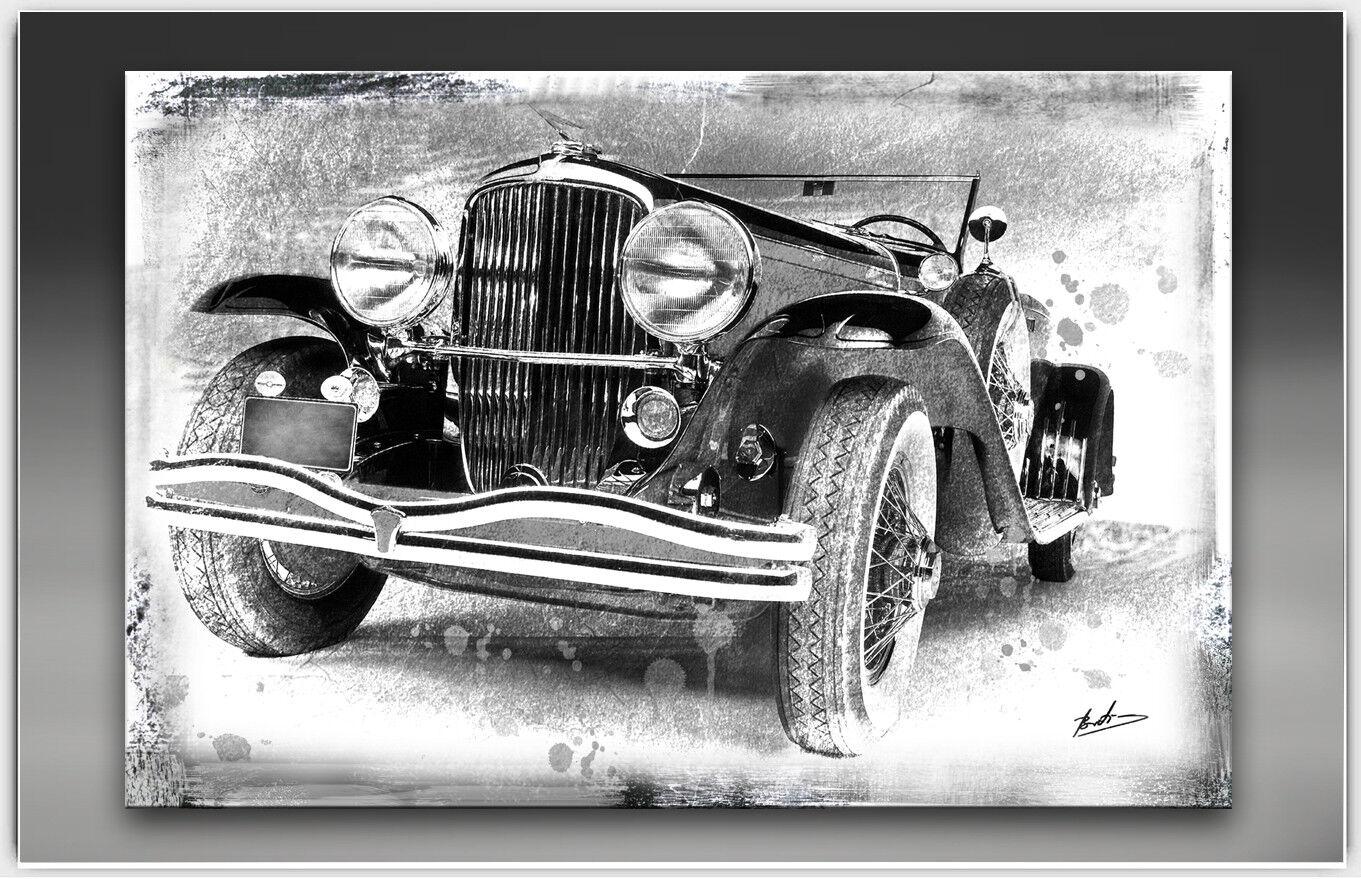 Oldtimer voiture voiture sport de sport voiture peintures murales images sur toile abstrait XXL 2175 a 7ccd5d
