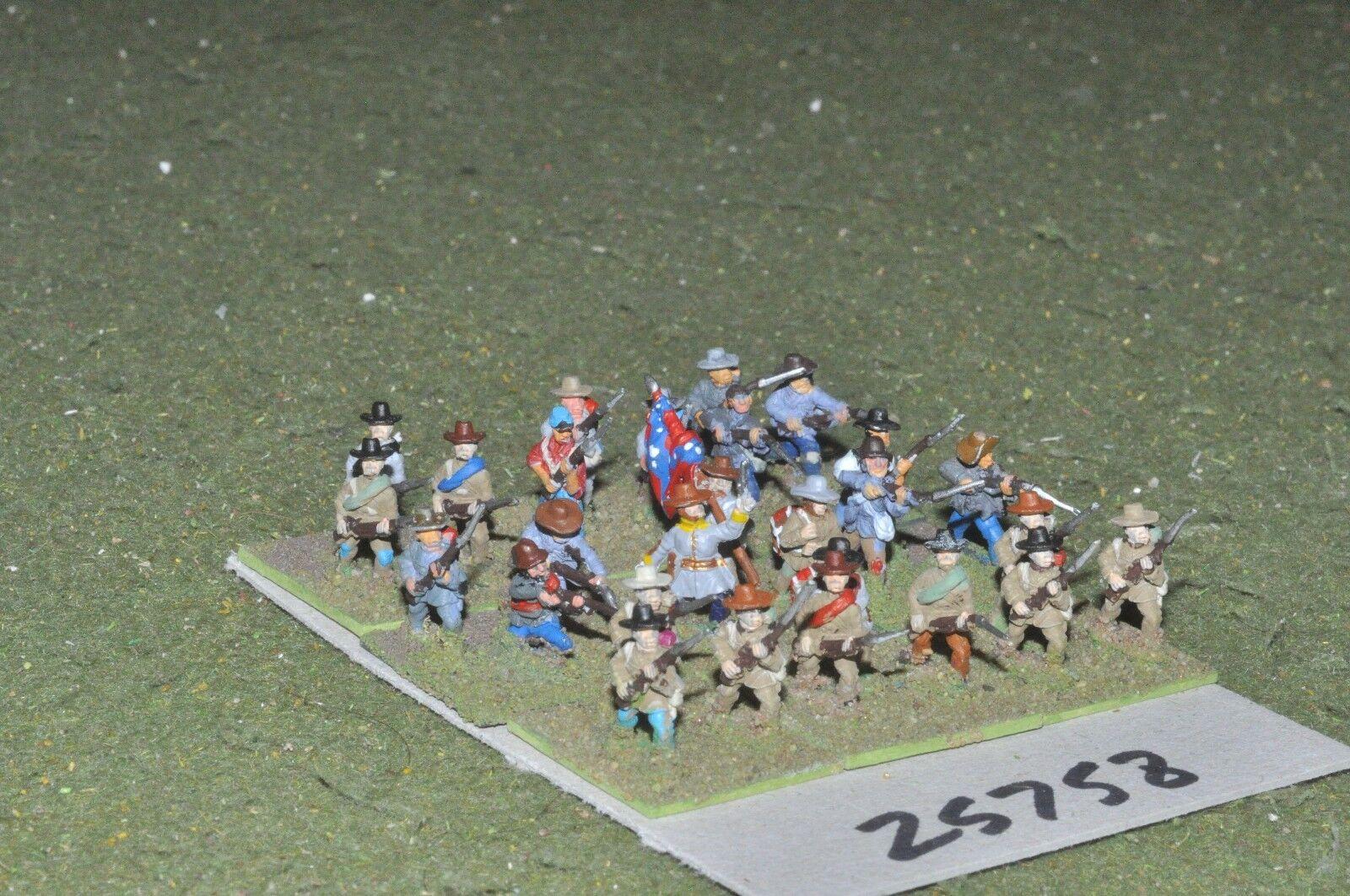 15mm ACW   confederate - regt. 27 figures - inf (25758)