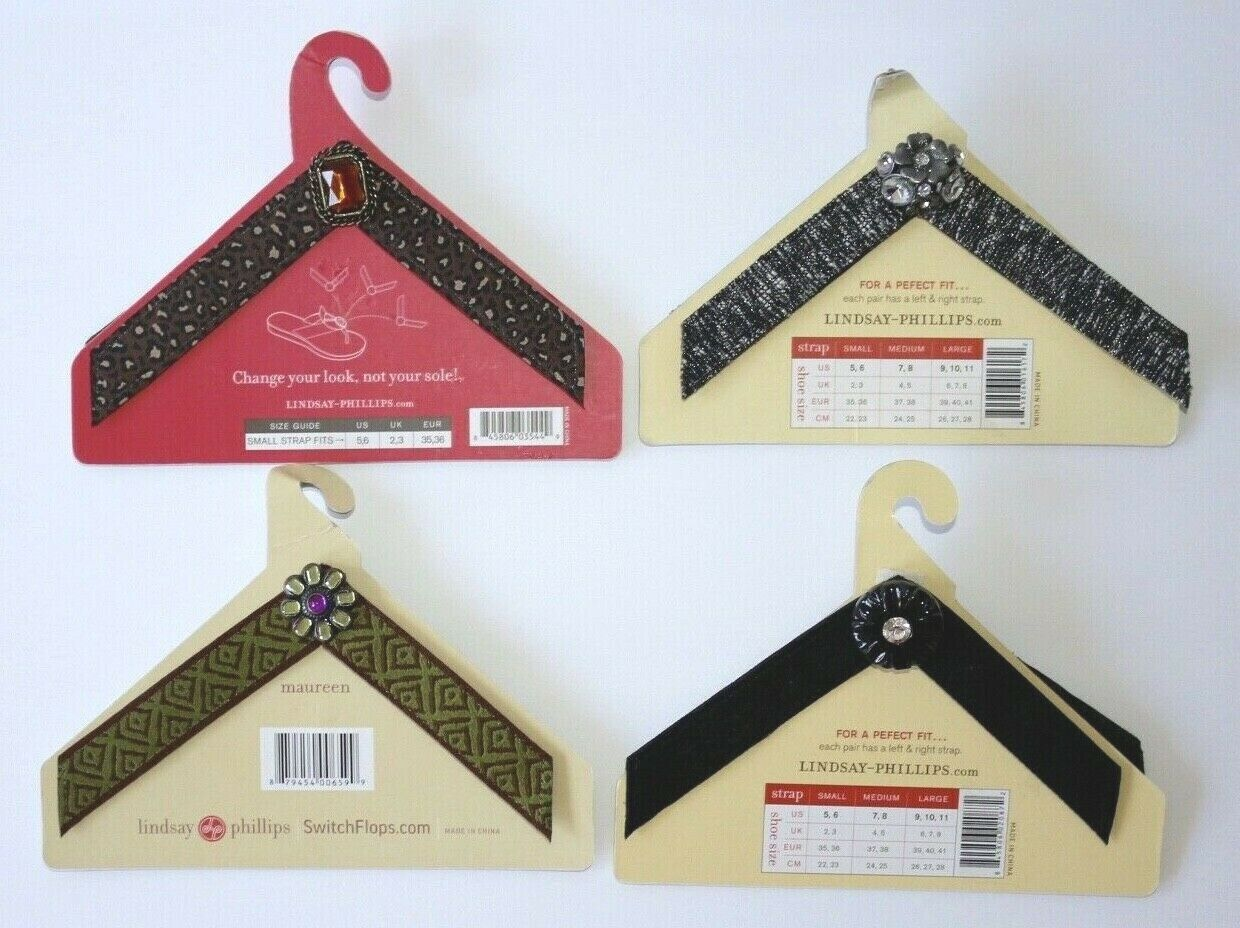 (9) Lindsay Phillips SwitchFlops Interchangeable Straps Size Small Large (1)