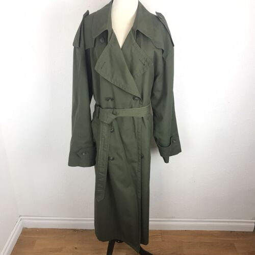 Christian Dior Moniseur Trench Coat Olive Green