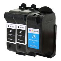 3 HP 45 + HP 78 Black Color Ink Cartridge for Deskjet 930C 932C 935C 950C 952C