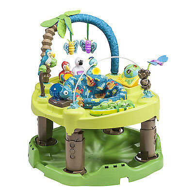 Evenflo Triple Fun Deluxe Jungle Activity Center Learning 3 in 1 Exersaucer  NEW