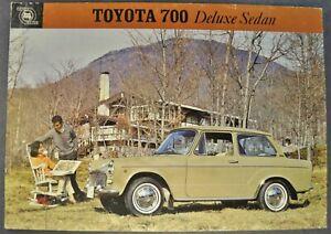 1965 Toyota 700 Sedan Sales Brochure Sheet UP10-D Nice Original 65