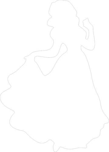 Disney Princesa Nieve Blanco VINILO STICKER COCHE//van//pared//de la puerta//Laptop//Tablet Regalo