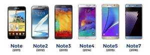 Samsung-Galaxy-NOTE-SERIES-note-4-debloque-Smartphone-differents-classes