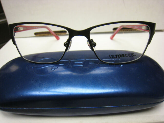 9340bd4b920 VICTORIOUS Eyeglass Frame V420 Style in Black 50-15-135 Authentic