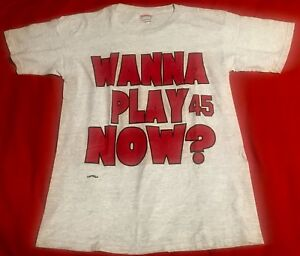 dfa65ef3a5debd VTG 90s CHICAGO BULLS Michael Jordan  45 Wanna Play Now  Nutmeg ...