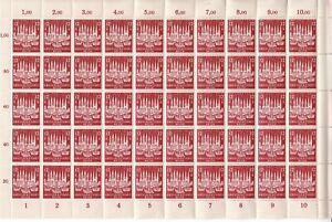 SALE-Stamp-Germany-Sc-B249-Sheet-1943-WWII-3rd-Reich-Lubeck-City-AH-Berlin-MNH