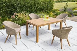 Gartenmöbel set alu 9 teilig  Merxx Gartenmöbel-Set 2 Arrone 9-teilig Tisch: 150(200) x 90 x 74 cm ...