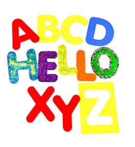 Alphabet Stencils Washable Large Upper Case Capitals 26 Individual - Children
