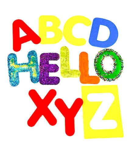 Stencil Alfabeto Lavabile Grande maiuscole Capitali 26 singoli-Bambini
