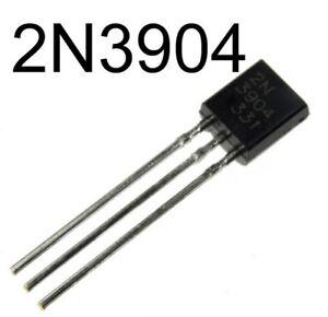 100Stks-2N3904-TO-92-NPN-General-Purpose-Transistor-NEW