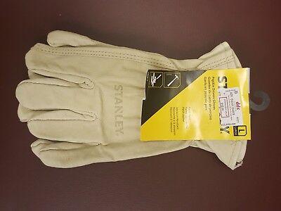 New Stanley Pigskin Work//Driving Gloves Size L