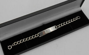 Mens-24-3-Grams-925-Sterling-Silver-Curb-Identity-Bracelet-Hallmarked-Boxed