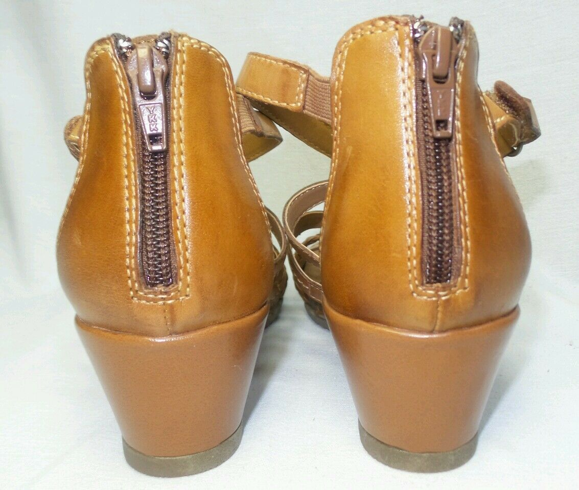 NEW Earth Origins KENDALL Womens Leather Wedge Sandals Sandals Sandals shoes TAN Size 9.5  2014S a76238