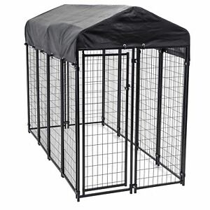 Image Is Loading Lucky Dog Uptown Large Outdoor Covered Kennel Heavy