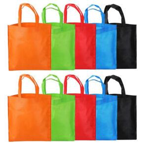 reusable shopping bags foldable non woven grab eco friendly tote