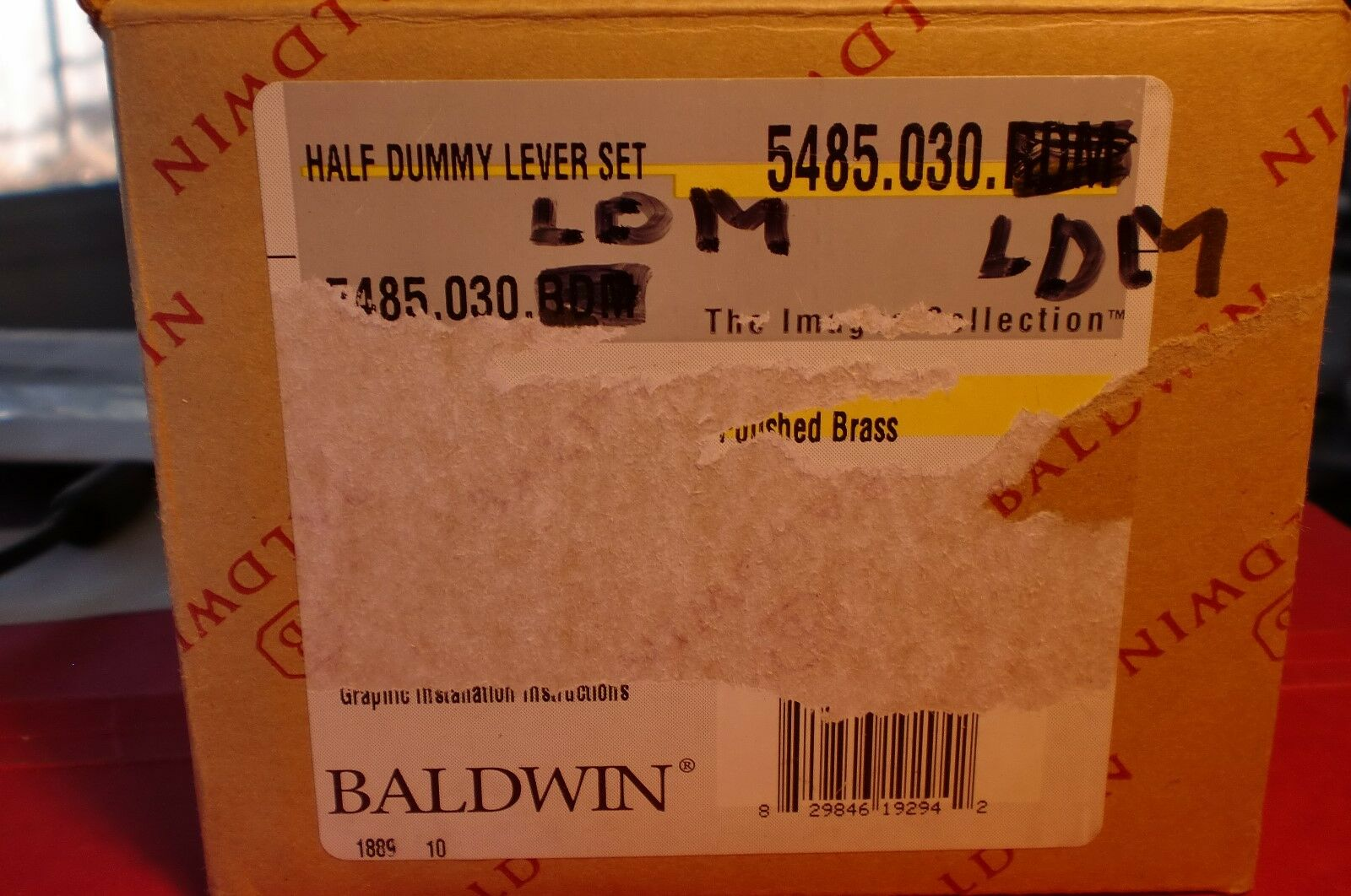 Baldwin 5485.030 Massives Messing Türknauf Poliertes Neu (Attrappe (Attrappe (Attrappe Hebel)   Sorgfältig ausgewählte Materialien  c1b925