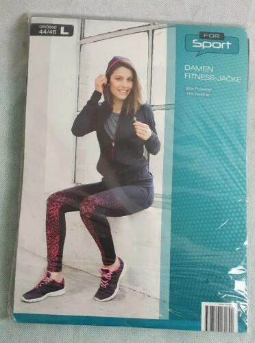 For Sport Damen Fitness Jacke Jogging Yoga Training m Kapuze L 44//46 NEU /& OVP