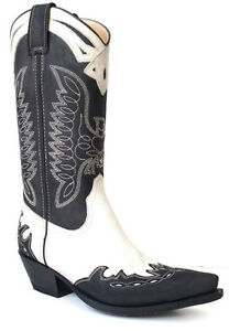 Sancho Western Bottes Bottes Nouveau Femme Biker Bottes Bottes Cowboy tfqrEt