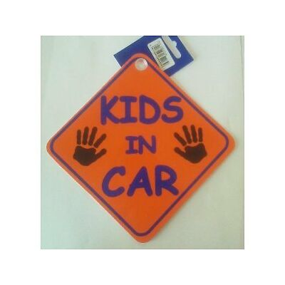 "Children Kids In Car Window Sucker Sign 7.5"" x 7.5"""