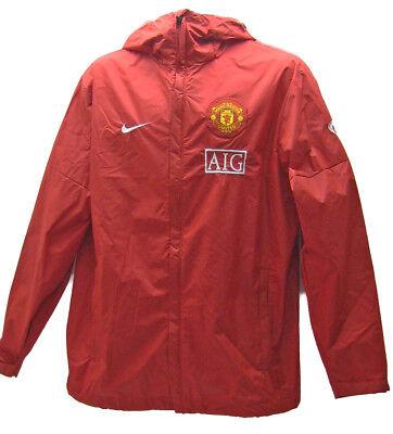 New NIKE MANCHESTER UNITED Football RAIN JACKET AIG Red Small | eBay