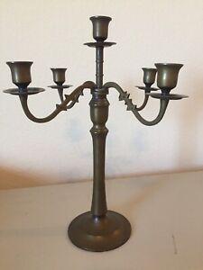 """Vintage Ornate 4 Arm 5 Candle Holder Candelabra ~ 14"""" Tall ..."""
