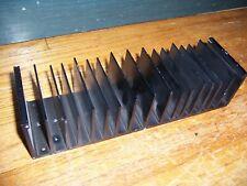 Large Long Black Flat Bottom Aluminum Heatsink 10 X 225 X 3 25 X 75 X 6cm
