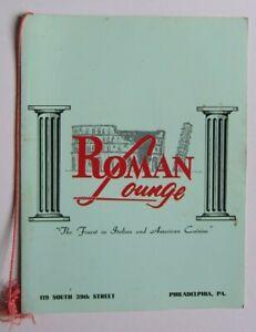 1950s-ROMAN-LOUNGE-Restaurant-Menu-Philadelphia-PA